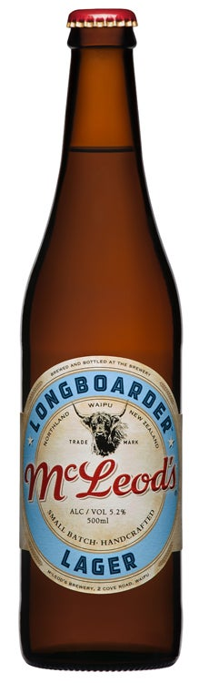 McLeod's Longboarder Lager 500ml bottle