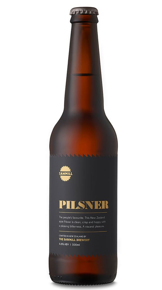 Sawmill Pilsner 500ml bottle