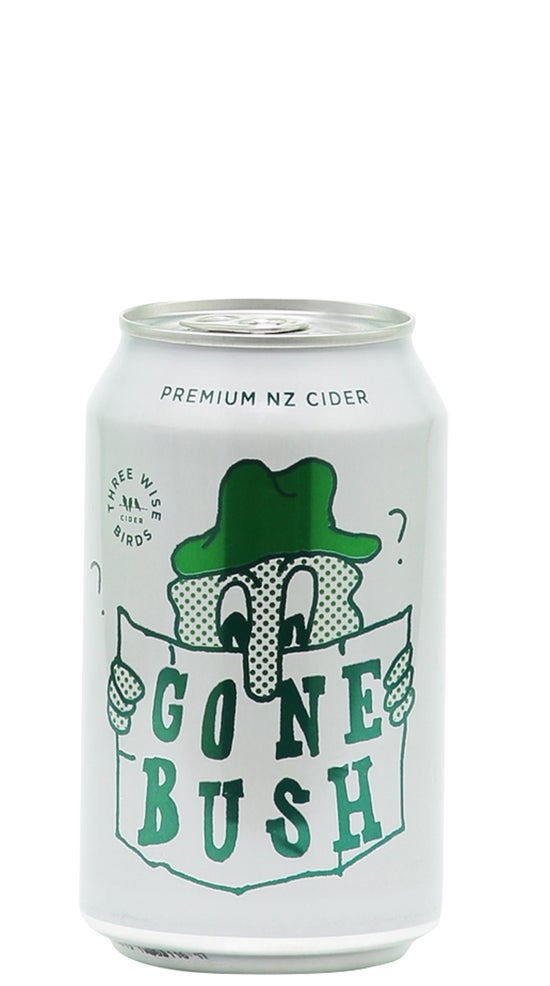Three Wise Birds 'Gone Bush' Hopped Cider Can