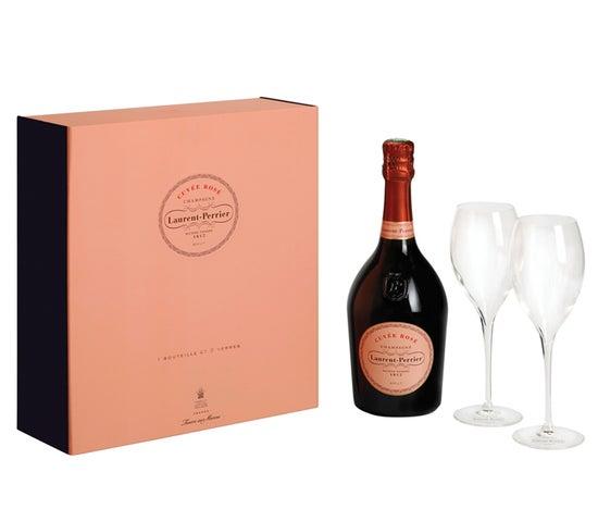 Laurent-Perrier Rosé NV Gift Pack with 2 Flutes