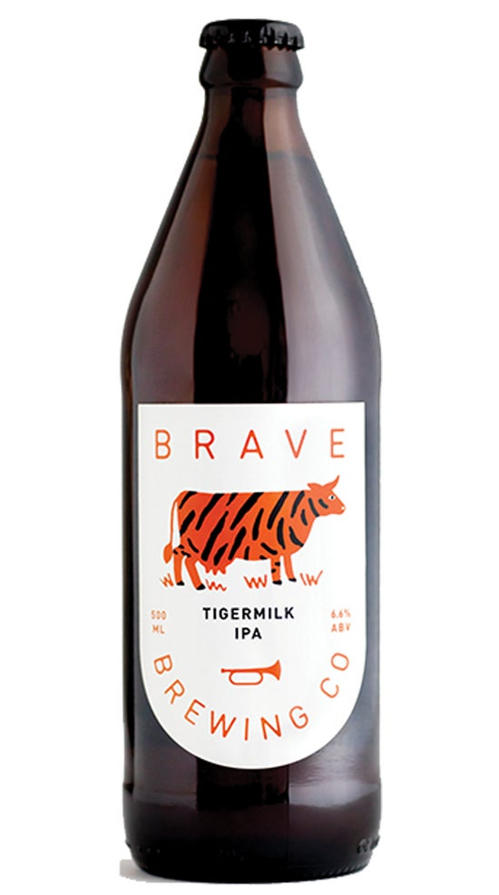 Brave Brewing Tigermilk IPA 500ml bottle