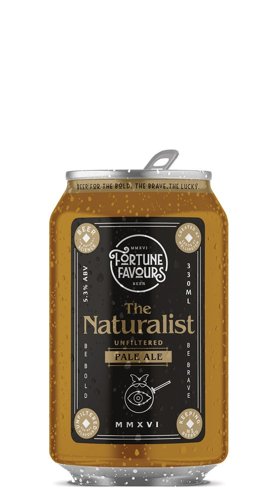 Fortune Favours The Naturalist Pale Ale 330ml can