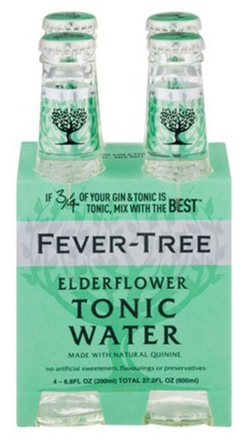 Fever-Tree Premium Elderflower Tonic Water 4pk