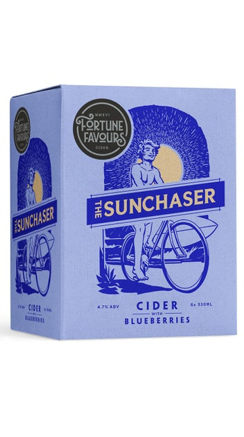 Fortune Favours The Sunchaser Blueberry Cider 6 pack