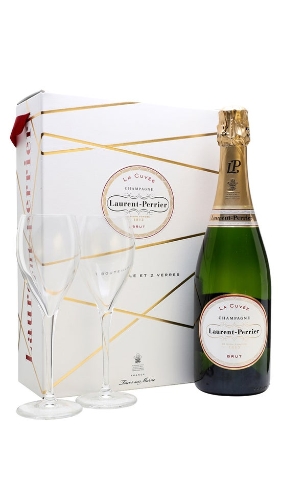 Laurent-Perrier La Cuvee Gift Pack with 2 Flutes