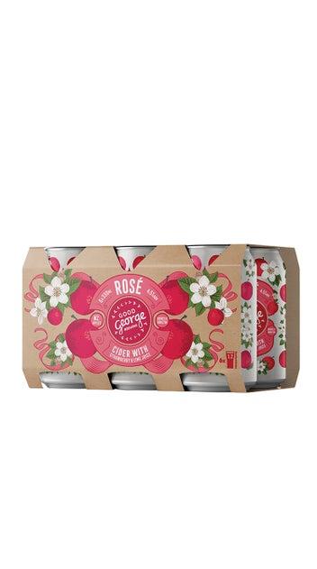 Good George Rosé Cider 6 Pack