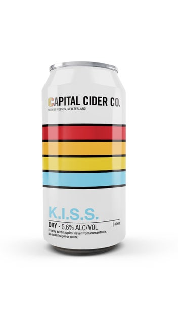 Capital Cider Co. K.I.S.S. Dry Cider 440ml can