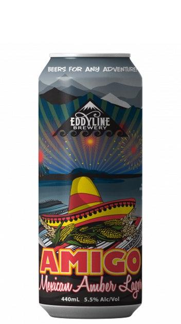 2020 Eddyline Amigo Mexican Amber Lager 440ml can