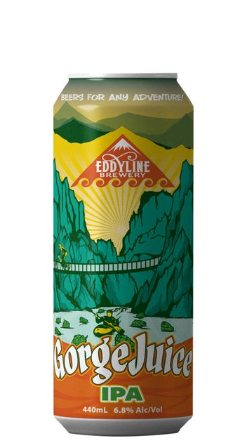 Eddyline Gorge Juice IPA 440ml can