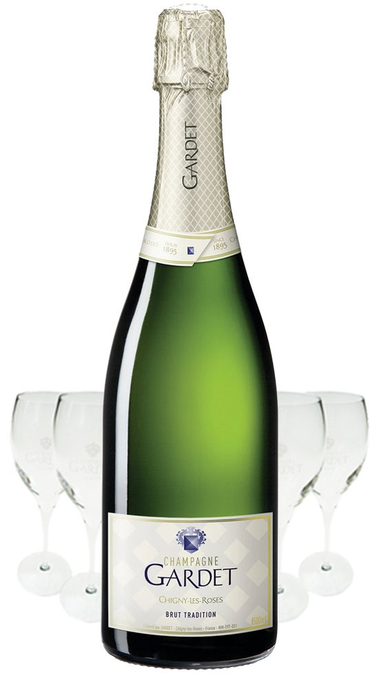 Champagne Gardet Brut Tradition 6 Pack + 6 Gardet Flutes