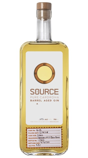 Cardrona Bourbon Barrel Aged The Source Gin 750ml bottle