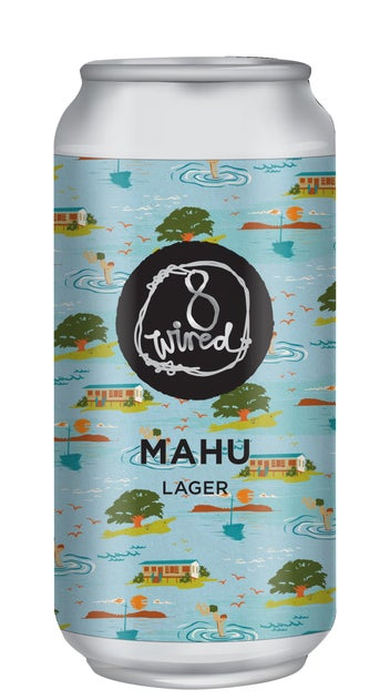 8 Wired Mahu Lager 440ml can