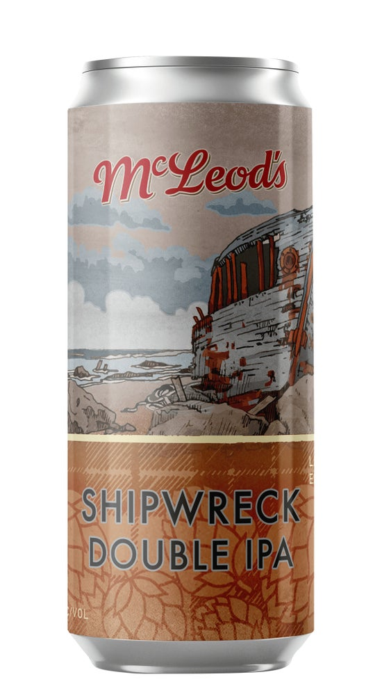 McLeod's Shipwreck Double IPA 440ml can