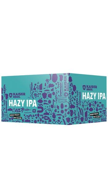 Kaiser Bros Beer Hazy IPA 330ml 6 pack can