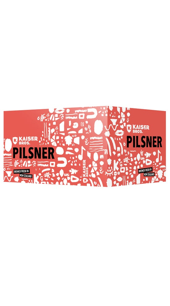 Kaiser Bros Beer Pilsner 330ml 6 pack cans