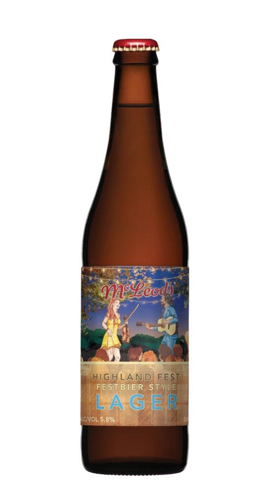 McLeod's Highland Fest Festbier Style Lager 500ml bottle