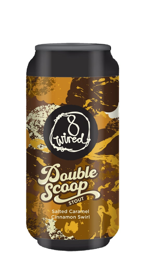 8 Wired Double Scoop Salted Caramel Cinnamon Swirl Stout 440ml can