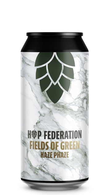 Hop Federation Fields of Green Hazy IPA 440ml can