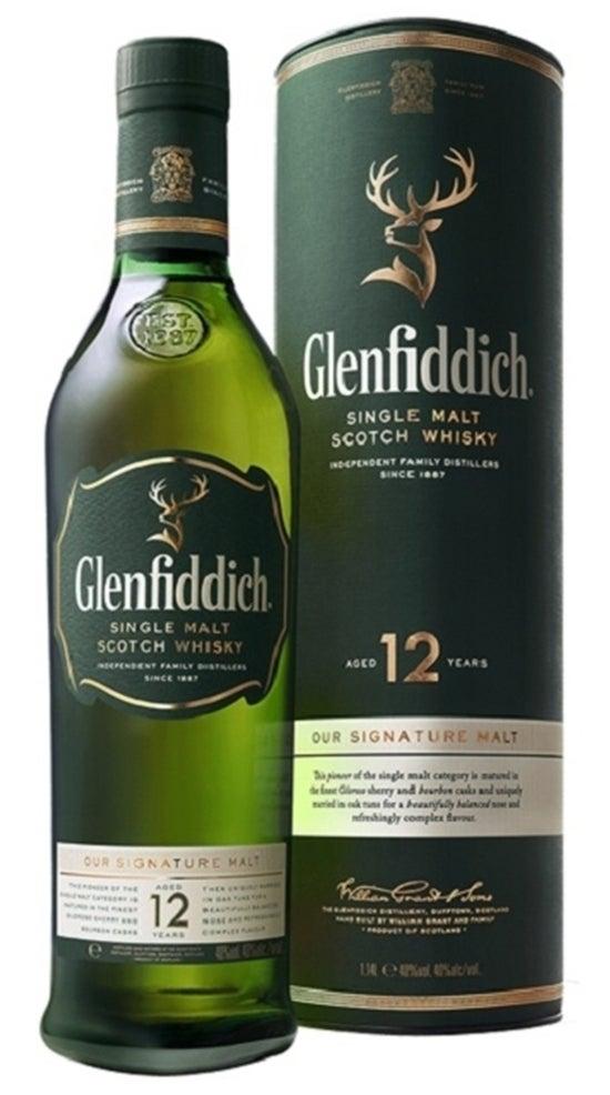Glenfiddich Single Malt Scotch Whisky 12YO 1 Litre