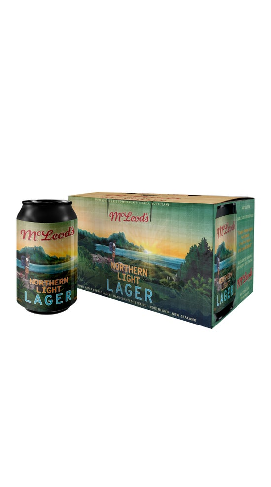 McLeod's Brewery Northern Light Lager 6 Pack 330ml can