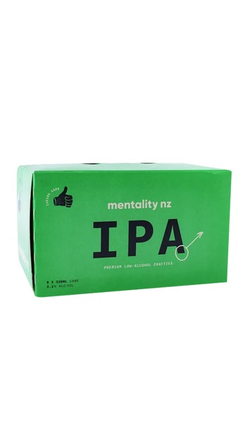 Mentality NZ Low Alcohol IPA 330ml cans 6 pack
