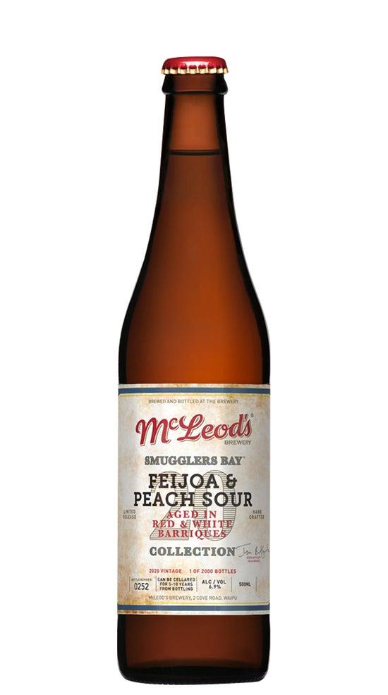 McLeod's Smugglers Bay Feijoa & Peach Sour 500ml bottle