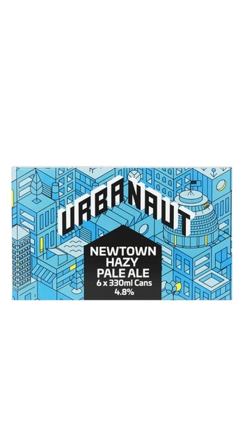 Urbanaut Newtown Hazy Pale Ale 6 pack 330ml cans