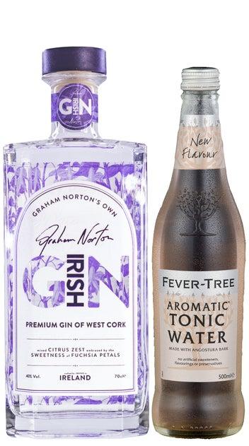 Graham Norton Irish Gin 700ml & Fever Tree Aromatic 500ml