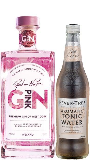 Graham Norton Pink Gin 700ml & Fever Tree Aromatic tonic 500ml