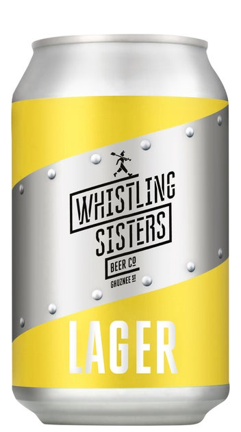 2020 Whistling Sisters Lager Can 330ml