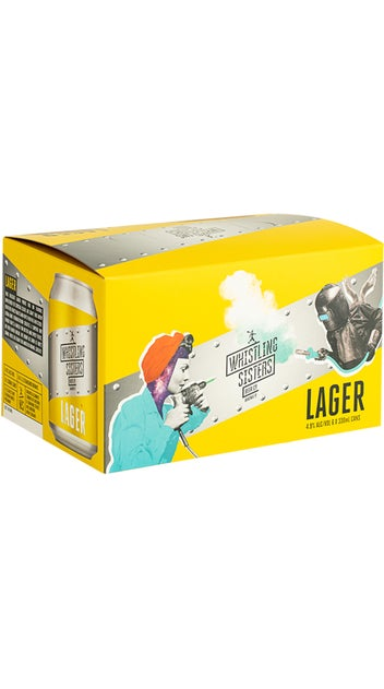 Whistling Sisters Lager Can 6pk