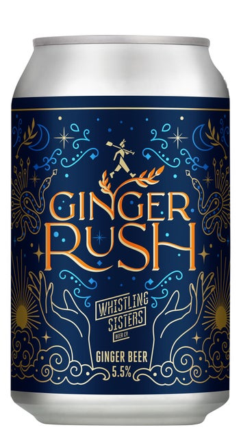 Whistling Sisters Ginger Rush Brewed Ginger Beer 330ml can