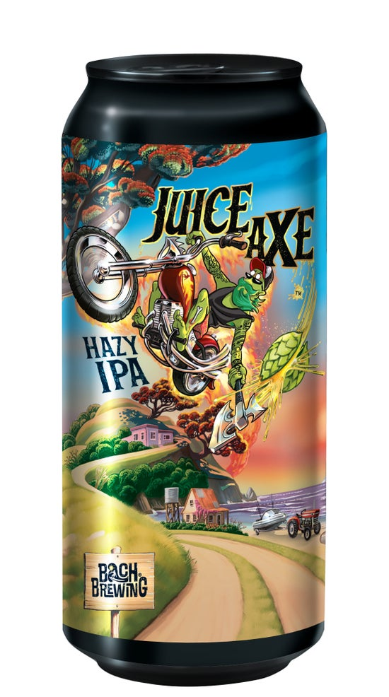 Bach Brewing Juice Axe Hazy IPA 440ml can