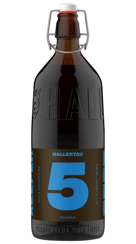 Hallertau The Keeper #5 Pilsner 1 litre refillable bottle