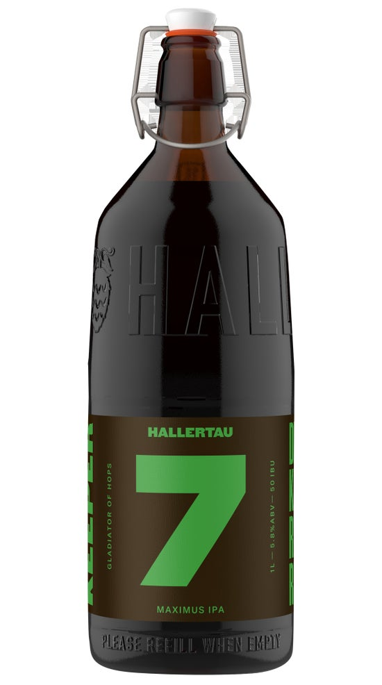 Hallertau The Keeper #7 Maximus IPA 1 litre refillable bottle