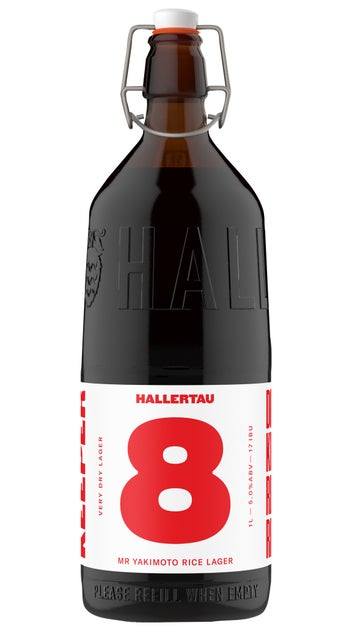Hallertau The Keeper #8 Mr Yakimoto Rice Lager 1 Litre bottles