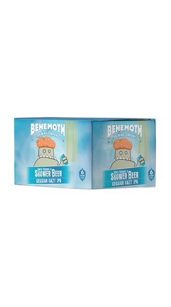 Behemoth Here comes the shower Beer 6 pack cans