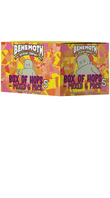 Behemoth Box of Hops #5 Mixed 6 pack cans 330ml