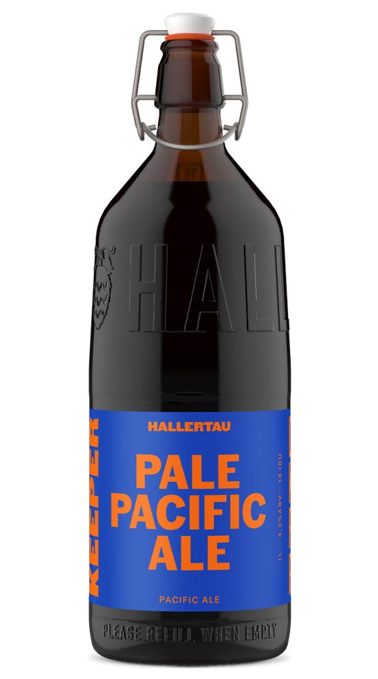 Hallertau Pacific Pale Ale 1 Litre Resuable Keeper Bottle