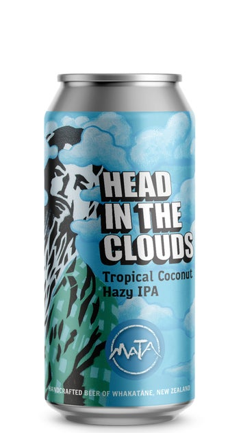 Mata Head In The Clouds Tropical Coconut Hazy IPA 440ml can
