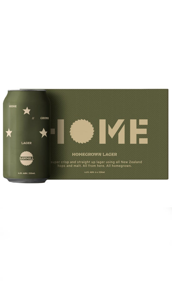 Sawmill Homegrown Lager 6 pack 330ml can