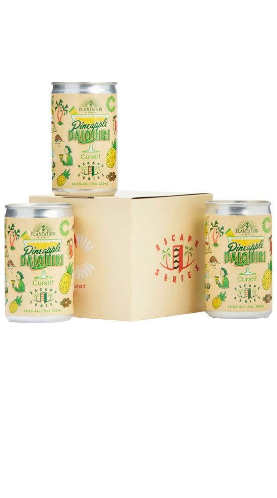 Curatif x Plantation Rum Canned Pineapple Daiquiri Cocktail 4 pack