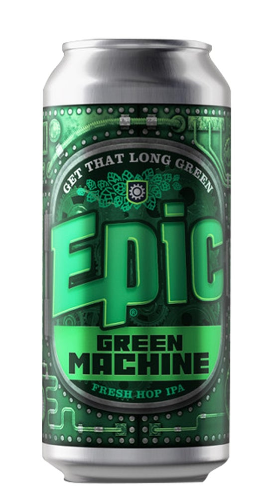 Epic Green Machine Fresh Hop IPA 440ml can
