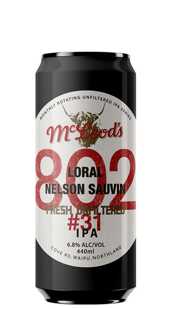 McLeod's 802 #31 Hazy IPA 440ml can