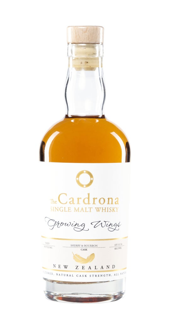 Cardrona Growing Wings Solera Olorosso & Bourbon Cask 5yr old Whisky