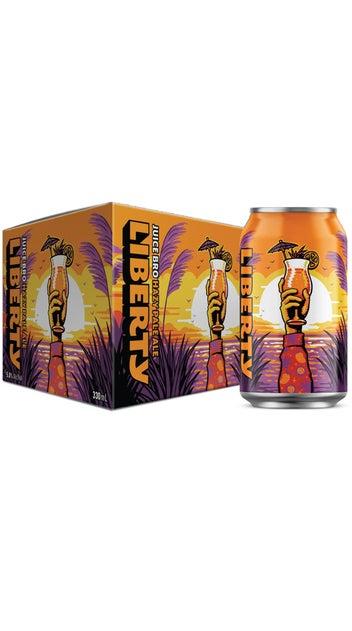 Liberty Juice Bro Hazy IPA 330ml can 6 pack