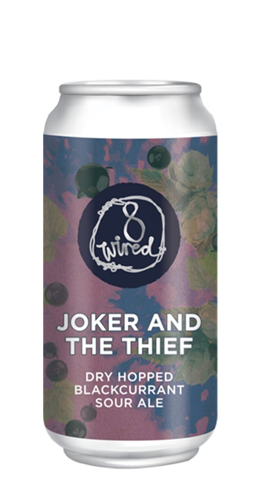 8 Wired Joker & The Thief Dry Hop Blackcurrant Sour Ale 440ml can