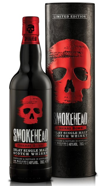 Smokehead Islay Single Malt Whisky Sherry Bomb 48% 700ml bottle