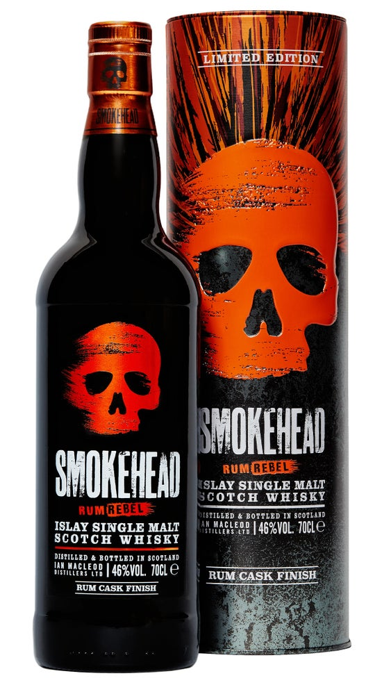 Smokehead Rum Rebel Single Malt Scotch Whisky 46% 700ml bottle