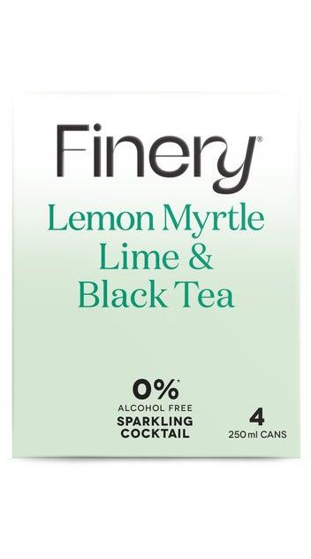 0% Finery Sparkling Cocktail - Lemon Myrtle Lime & Black Tea 4pack